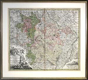 M. Seutter: Mappa Geographica. [um 1730]. Altkol. Kupferstich. Gerahmt.