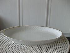 Schumann Germany  Servierplatte  37cmx24cm   weiß mit Goldrand