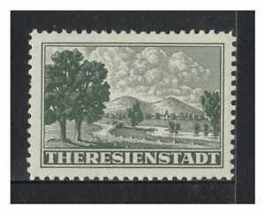 Bohemia & Moravia 1940's Theresienstadt Ghetto Post Stamp Michel 1 MUH 6-32