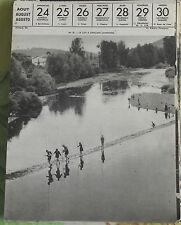 1957 Le Lot à Espalion Aveyron Partie de Pêche