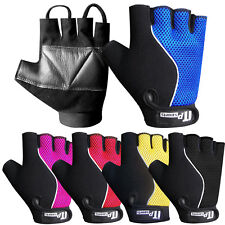 Anti Vibration Gloves Fingerless Leather Padded Palm