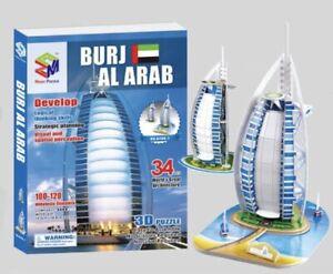 Educational 3D Jigsaw Puzzle Twin Pack - Burj Al Arab - Activities for kids 34pc