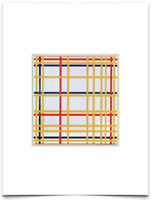 PIET MONDRIAN COMPOSITION LINES RED BLUE WHITE YELLOW LIMITED EDITION ART PRINT