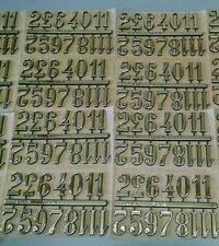 "1"" Clock Numbers Self-Adhesive Gold Arabic- 10 SETS- Hot Stamped USA made"
