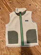 **PERMANENT MARKS** Patagonia White Boys Retro X Sleeveless Vest Size Small 7/8