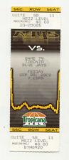 Tampa Bay Devil Rays Vs Toronto Blue Jays September 20 2002 Unused Suite Ticket