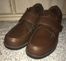 DR SCHOLL'S Leather 478-U4 Comfort Double Air Pillow Shoes~Brown~Size 11 D