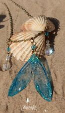 Beautiful Mermaid's Tears crystal mermaid tail necklace fairy tale jewellery