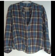 61. Anthropologie Artisan De Luxe Flannel Plaid Popover NWoT