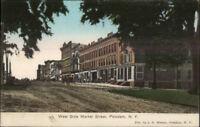 Potsdam NY West Side Market St. c1910 Postcard
