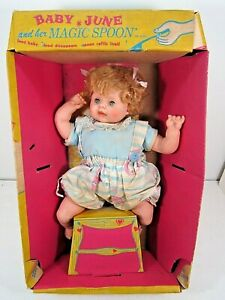 VINTAGE RARE EEGEE BABY JUNE & HER MAGIC SPOON DOLL IN WINDOW BOX