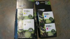 Set of 4 HP Genuine 920XL B, C,M,Y Ink cartridges  for Officejet 6000, 6500, 700