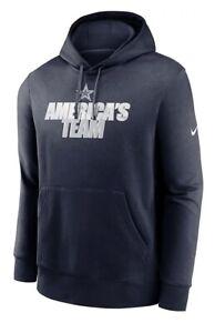 New NWT Dallas Cowboys Hoodie Sweatshirt Men's Size Large Nike America's Team