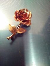 Krementz Vintage Rolled Rose And Yellow gold Rose Pin