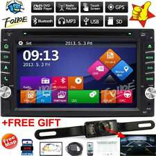 "GPS Navigation With Map Bluetooth Radio Double Din 6.2"" Car Stereo DVD Player CD"