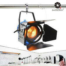 1000W Fresnel Tungsten Spot light continue Lighting Studio Video+Bulb+Barndoor