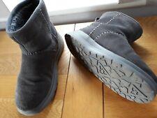 Skechers Ladies Grey Suede Boots Uk 5