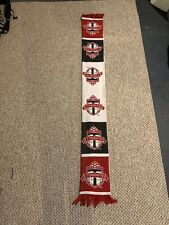 Toronto FC MLS Soccer Football Onyx Red Double Sided Scarf