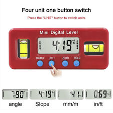 Digital Protractor Inclinometer Magnetic Angle Finder Level Gauge w/ LCD Display