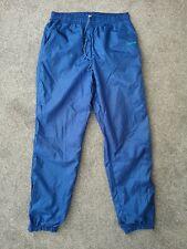 Vintage 80s Adidas Blue Tracksuit Trackie Shell Suit Bottoms Pants - Size L