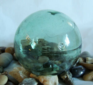 """15"""" In Circumference Japanese Glass FISHING FLOAT True Spindle Inside (#47)"""