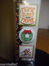 Mary Engelbreit Stickers Home Sweet Home. Christmas Wreath, Mary's Cottage