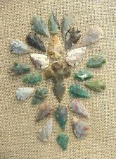 24 pc bulk arrowheads 1 cross spearhead  reproduction  collection kx885