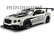 Bburago 18-28008 Bentley Continental Gt3 #7 1/24 Diecast Model Car White