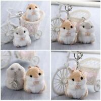 Cute Kids Gift Cartoon Stuffed Hamster Key Chain&Keyring Toy Doll Plush Mouse