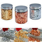 Nail Art Foil Leaf Gold Silver Flakes Chunky Glitter Body Manicure Makeup DIY ca