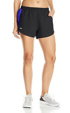 Under Armour Women's Fly-By Shorts Black/Purple L 6835-3