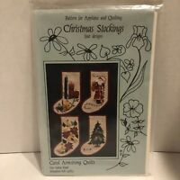 Pattern for Applique and Quilting Christmas Stockings - Four Designs
