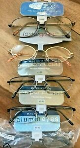 CLOSE OUT 5 pairs READING GLASSES +1.00 NEW Name brand