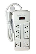 Monster Power Essentials White Surge Protector for HDTV, Game, Office - 8 Outlet
