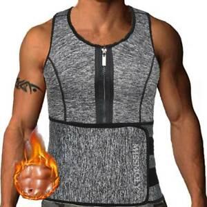 Waist Trainer Men Corset Slimming Vest Sauna Sweat Weight Loss Body Shaper Tanks