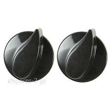 2 x four et plaque de Cuisson Belling gaz boutons de contrôle Cuisinière Flamme Brûleur noir commutateur authentique