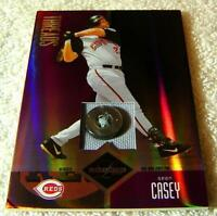SEAN CASEY 2004 LEAF LIMITED THREADS JERSEY BUTTON #144 SERIAL #5/6 RARE REDS