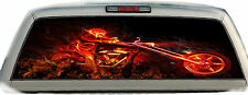 Ghost Rider Motorcycle Flames #02 Rear Window Graphic Tint Truck Sticker Decals