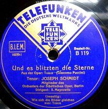 0815/Joseph Schmidt-Et il briller les étoiles-En allemand-gomme laque