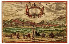 Granada Andalusia Spain bird's-eye view map Braun Hogenberg ca.1572