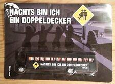 Modell Truck US Schulbus Werbung DB Axe Nachts bin ich ein Doppeldecker - OVP