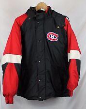 Vintage Chalkline Montreal Canadiens Jacket Sz M Black