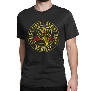 Cobra Kai Karate Kid Retro Training Fan Retro Tee Text Logo Print T Shirt