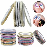 Rolls Mixed Colors DIY Tape Stickers 1/2/3mm Nail Art Striping Line Decoration