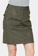 Knee Length Cotton Patternless Petite Skirts for Women