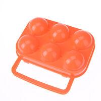 tragbarer Plastikbehälter 6 Eier Halter Klapp Eier Aufbewahrungsbox Griff Kof sg