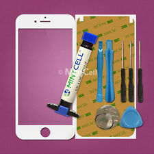 """White LCD Front Screen Glass Lens Replacement for 5.5"""" iPhone 6 Plus w/ UV Glue"""