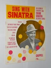 Sing With Sinatra. An Album Of 8 Frank Sinatra Songs. Softback Music Book.