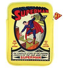 VINTAGE RETRO STYLE APPLE IPAD KINDLE TABLET DC SUPERMAN PRINTED CASE SLEEVE