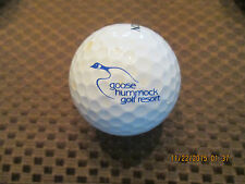 LOGO GOLF BALL-GOOSE HUMMOCK GOLF RESORT....CANADA